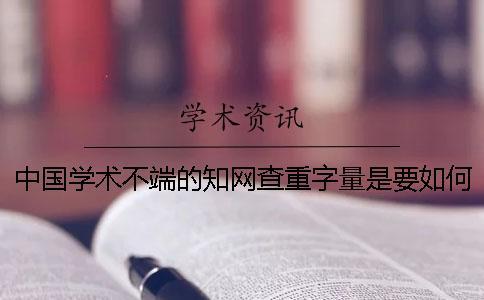 中国学术不端的知网查重字量是要如何算法的?