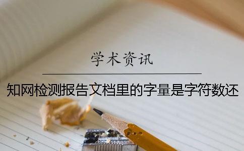 知网检测报告文档里的字量是字符数还是字量
